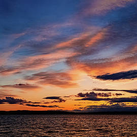 Dusk over Puget Sound by Andrew Cottrill