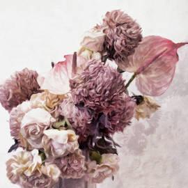 Dusty Pink Bouquet by Susan Maxwell Schmidt