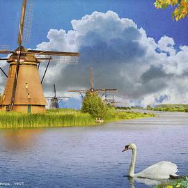 Dutch Windmills, Color Version by R christopher Vest