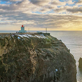 Dyrholaey LIghthouse Iceland by Joan Carroll
