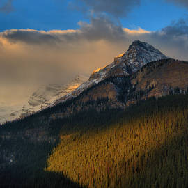 Early Morning Light Over Lake Louise by Stephen Vecchiotti