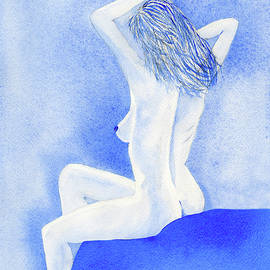 Female Nude Early Morning Stretch
