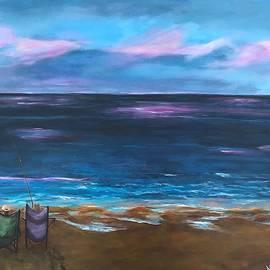 Early Morning Surf Fishing by Deborah Naves