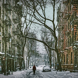 Early Morning Walk on Snowy Street - DWP1209401 by Dean Wittle