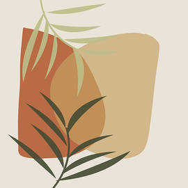 Earth Tone Botanical Abstract 1