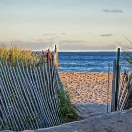 East Beach Fences by Cordia Murphy