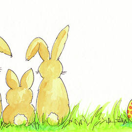 Easter bunny family by Karen Kaspar