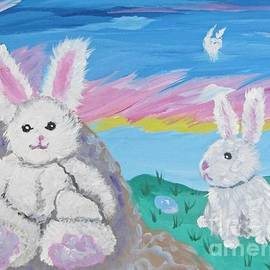 Easter Eggs and Toy Bunnies by Phyllis Kaltenbach