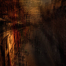 Edinburg Victoria Street at Sunset by Arro FineArt