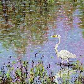Egret Reflections by Zan Savage