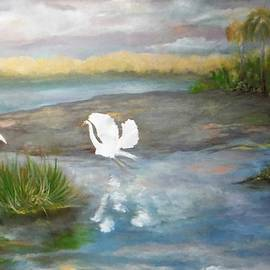Egrets in the Everglades by Jacqueline Whitcomb