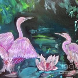 Egrets by Jenny Lee
