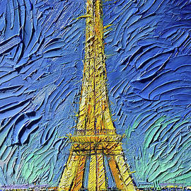 Eiffel Tower Illuminated by Mona Edulesco