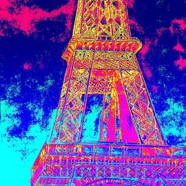 Eiffel Tower In Blue by Irving Starr