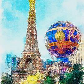 Eiffel Tower Paris Las Vegas by Tatiana Travelways