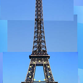 Eiffel Tower, Photo Collage by Michael Chiabaudo