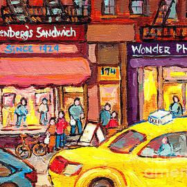Eisenberg's Sandwich Oldest Kosher Deli Upper West Side Lincoln Square C Spandau Paints Nyc Art by Carole Spandau