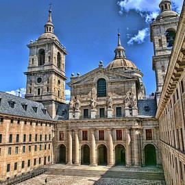 El Escorial Courtyard  2 - Madrid by Allen Beatty