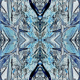 Electric Blue Kaleidoscope by Sherrie Hall