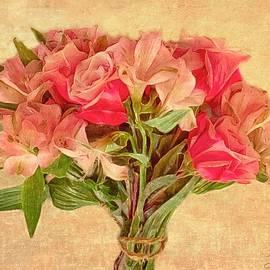 Elegant Bouquet - Photo Painting  by Barbara Zahno