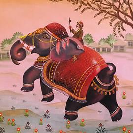 Elegant Elephant Rajasthani painting by Anjali Swami