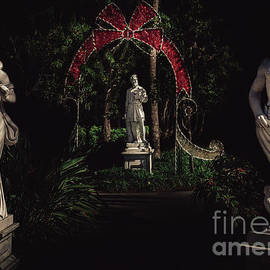 Statues at St. Armand's Circle, Florida at Christmas by Liesl Walsh