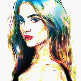 Elisabeth watercolor portrait by Nenad Vasic