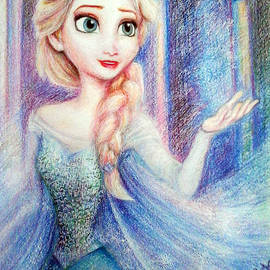 Elsa, the snow queen painting  by Aya Yahia