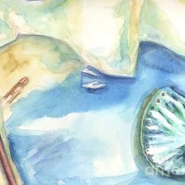 Enchanted Shipwreck Beach Navagio on Zante island art by Leonida Arte