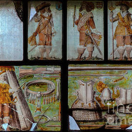 English Civil War royalist defenders of besieged Chester, 1662 memorial glass, Farndon, Cheshire, UK by Terence Kerr