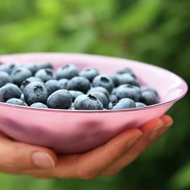 Enjoy some fresh blueberries by Karen Kaspar