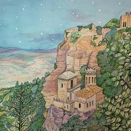 Erice di Sera by Lisa Arcomano