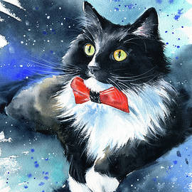 Erwin The Fancy Tuxie by Dora Hathazi Mendes