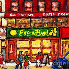 Ess-a-bagel 831 3rd Ave Midtown East C Spandau Paints Best New York City Sandwich Shops American Art by Carole Spandau