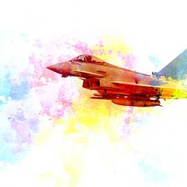 Eurofighter Typhoon Pop Art by Darren Wilkes