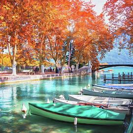 European Canal Scenes Annecy France  by Carol Japp