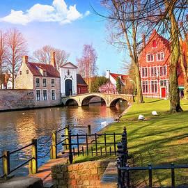European Canal Scenes Bruges Belgium  by Carol Japp