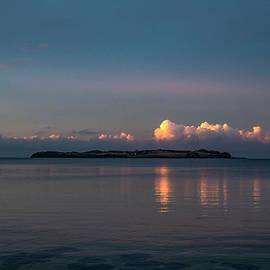 Evening Drama Above the Island