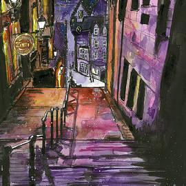 Evening in Edinburgh by Eileen Backman