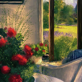 Evening Retreat On The Patio by Lois Bryan