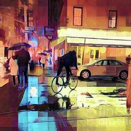 Evening Showers - Photo Painting by Miriam Danar