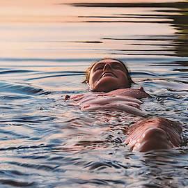 Evening swim by Johannes Wessmark