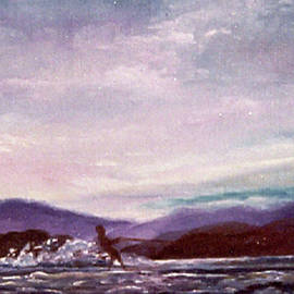 Evening Waterskier at Sunset by Catherine Ludwig Donleycott