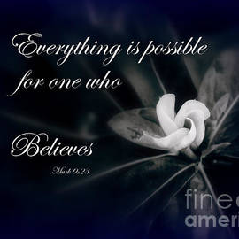 Everything is possible #Scripture Art by Ella Kaye Dickey