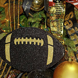 New Orleans Saints Christmas Tree by Sally Weigand