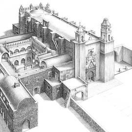 Ex Convent of Tepoztlan, Morelos, Mexico by Mayolo Ramirez