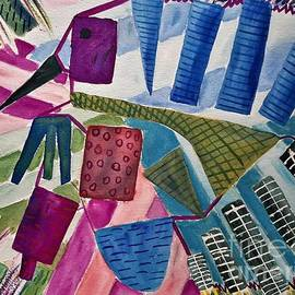 Exploding Blue Turkey by L A Feldstein