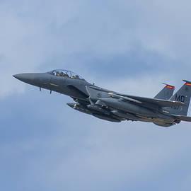 USAF McDonnell Douglas F-15 Eagle Departing Daniel K. Inouye International Airport Honolulu Art  by Reid Callaway
