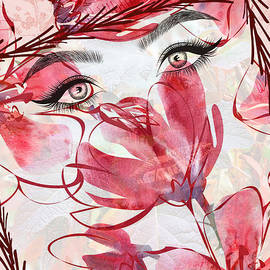 Face Among The Flowers by Diann Fisher