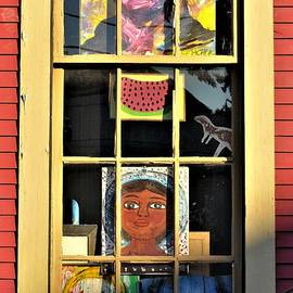 Faces In Windows Portrait Views In New Orleans Louisiana by Michael Hoard